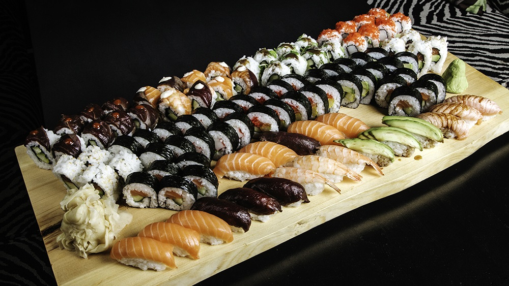 100 sushis from Himo restaurant, Rovaniemi, Lapland, Finland