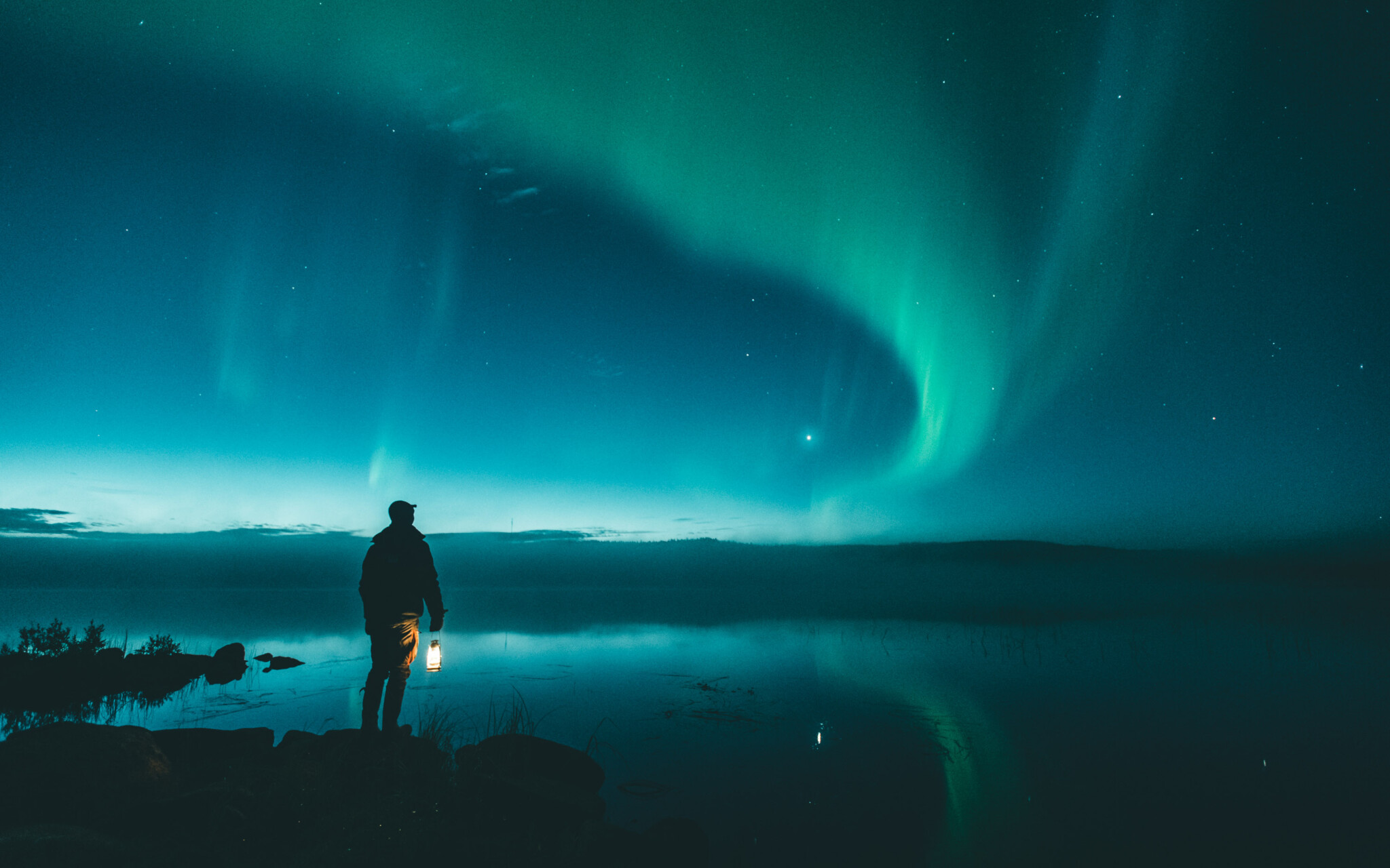 "All arctic people have their own beautiful mythology, believes and names for this heavenly phenomena. In Finnish the Northern Lights are called ""Revontulet""."