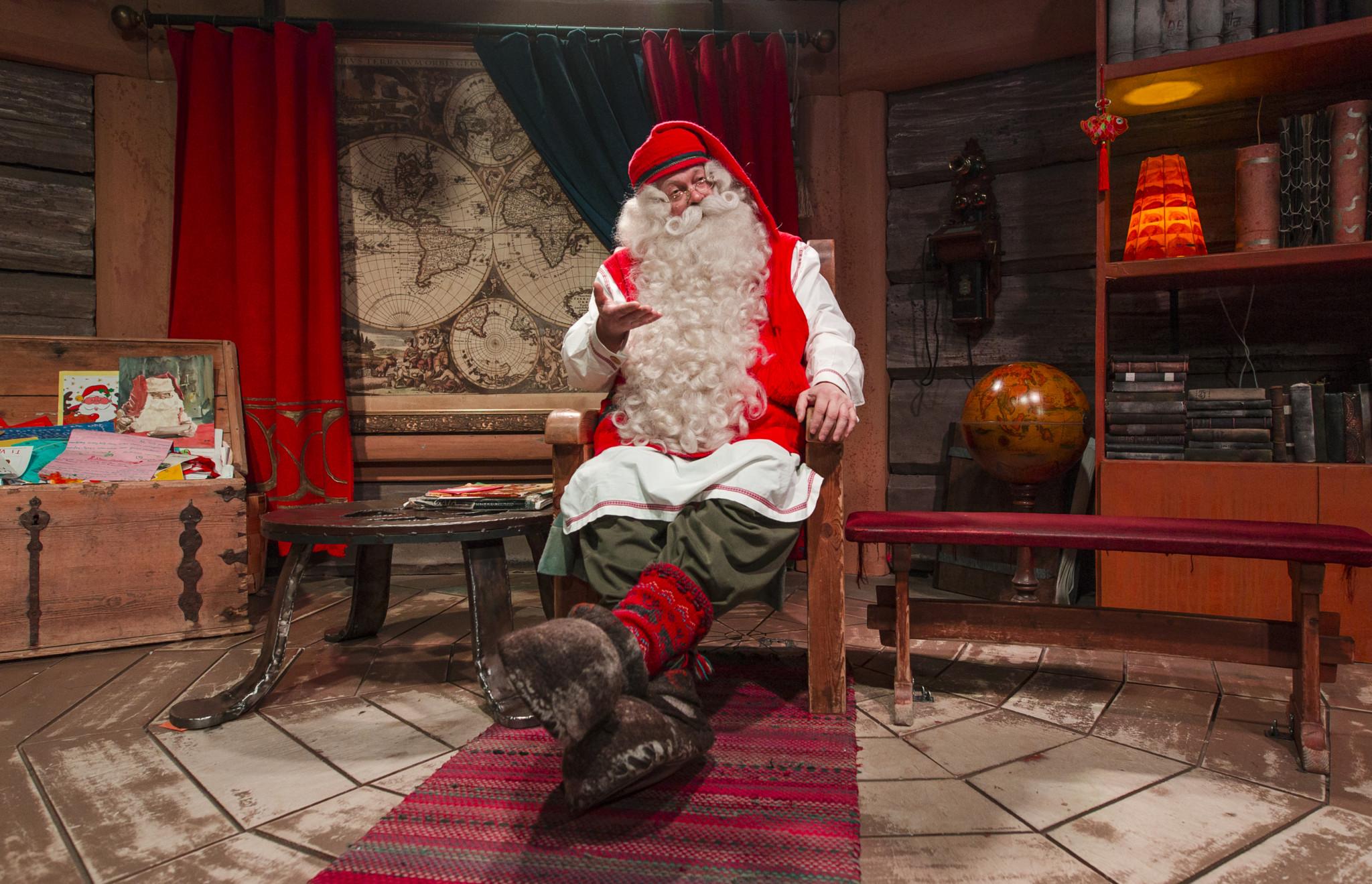 Santa Claus lives in Rovaniemi Lapland Finland