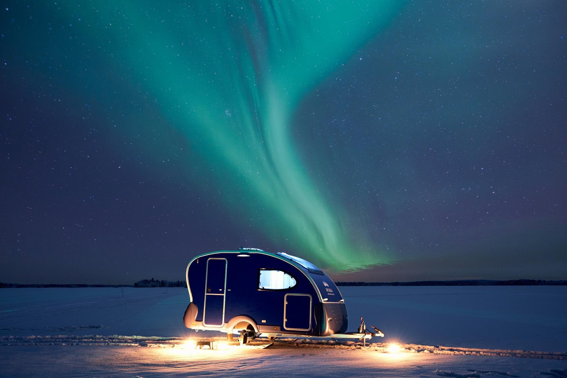 Apukka Resort Rovaniemi Lapland Finland Aurora Wagon outside