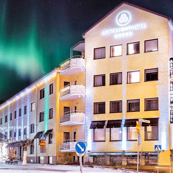 Arctic Light Hotel in Rovaniemi, Lapland, Finland
