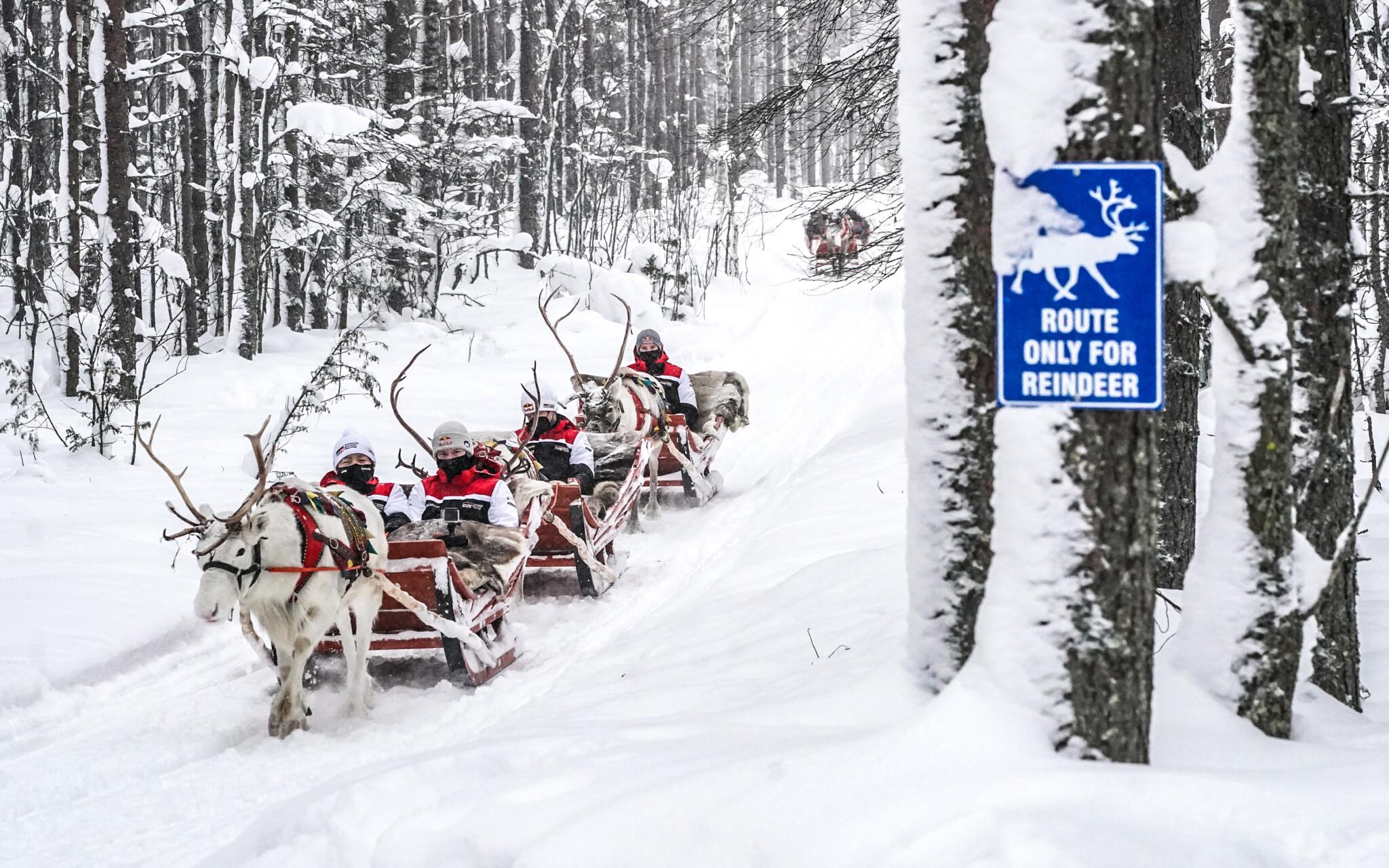 Arctic Rally Finland The Rally teams day in Santa Claus Village