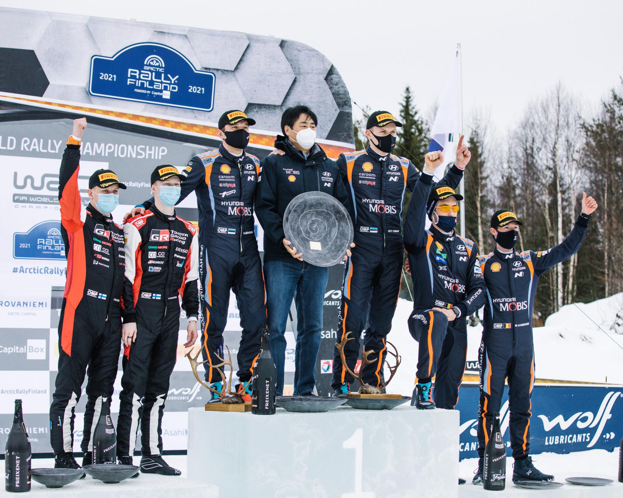Arctic Rally Finland Visit Rovaniemi the podium (1)