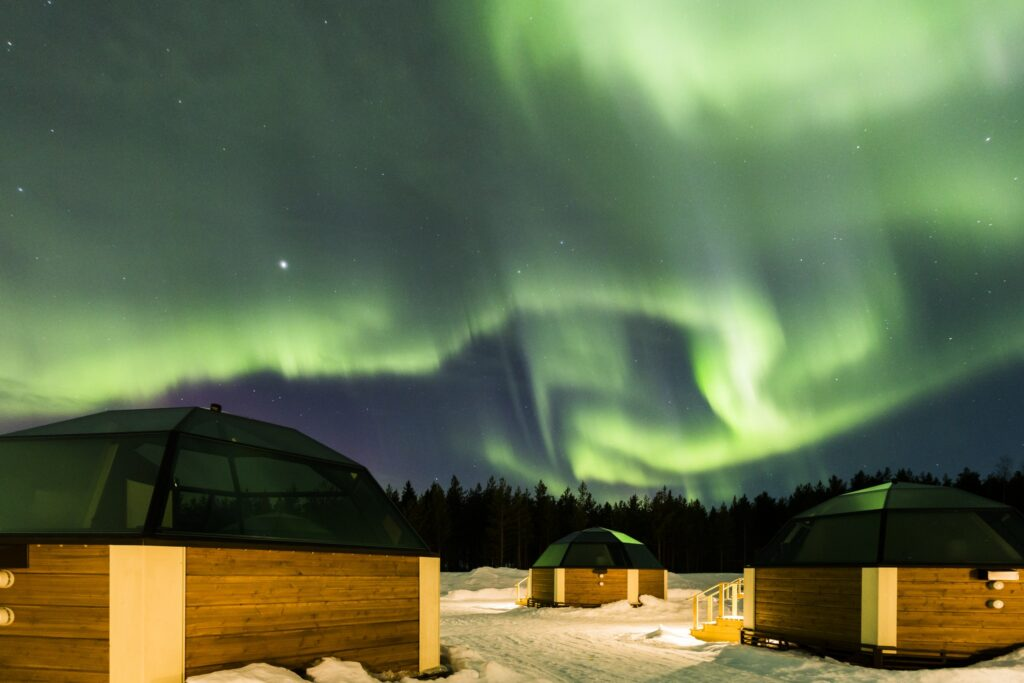Arctic SnowHotel and Glass Igloos, Auroras in Rovaniemi, Lapland, Finland