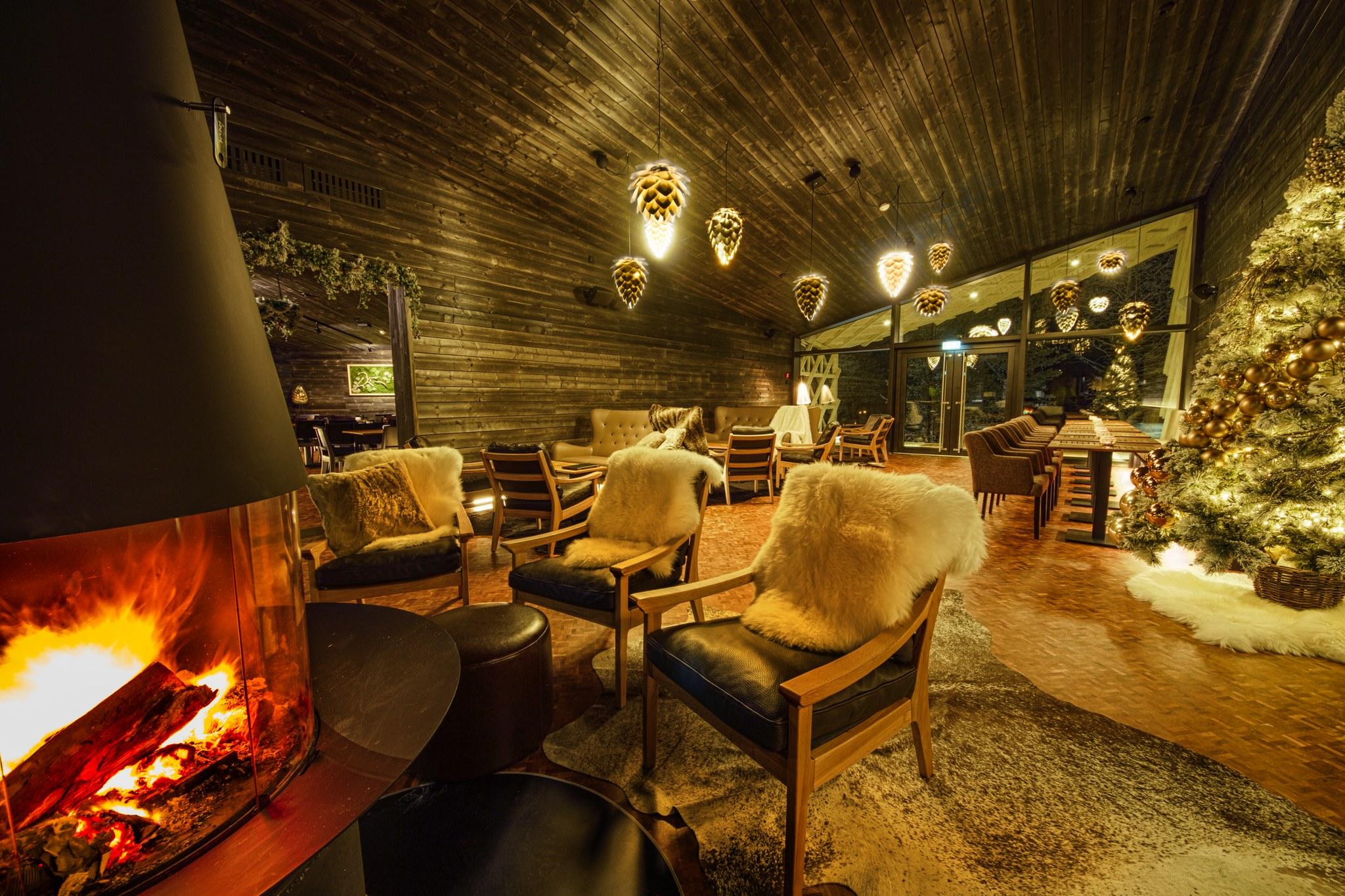 Arctic TreeHouse Hotel Rakas Restaurant Lounge in Rovaniemi Lapland Finland
