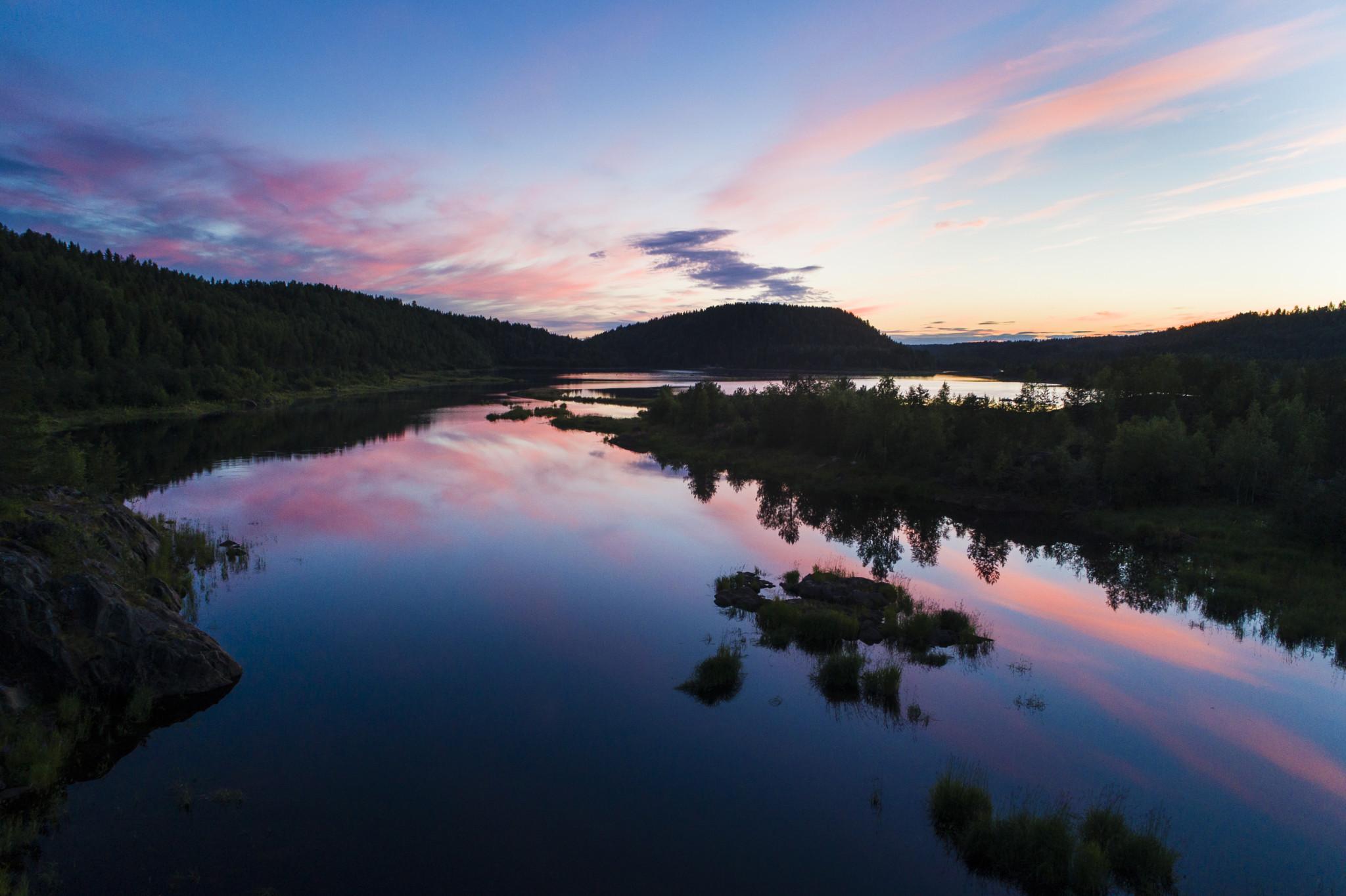 River Ounasjoki, Rovaniemi, Midnight sun