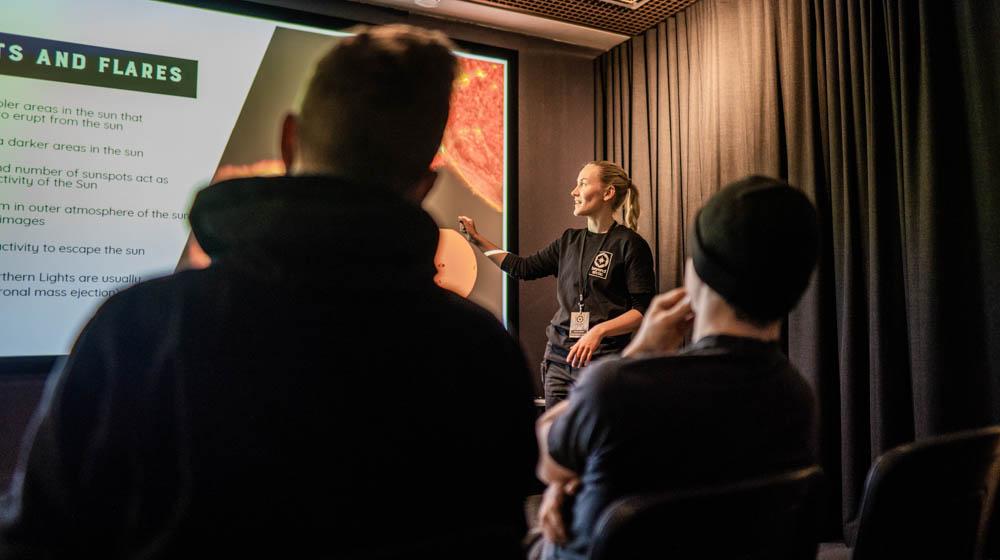 Aurora Borealis Workshop in Beyond Arctic Office in Rovaniemi, Lapland, Finland