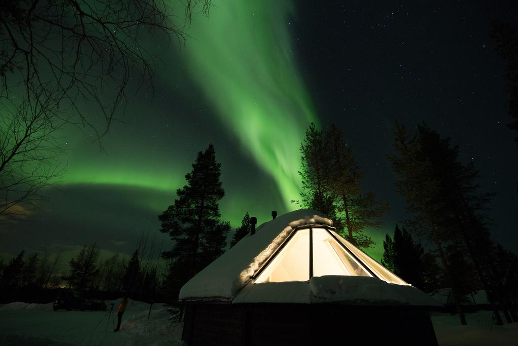 Aurora Cabin from the outside in Apukka Resort, Rovaniemi, Lapland, Finland