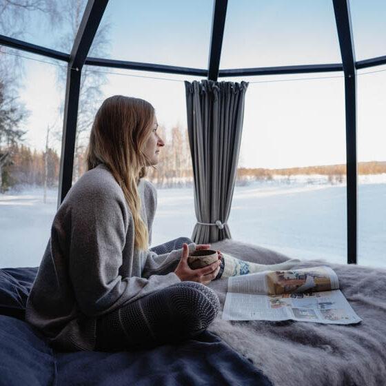 Aurora Hut at Ollero Eco Lodge, Rovaniemi, Lapland, Finland