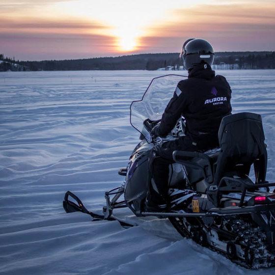 Snowmobiling Rovaniemi Lapland Finland