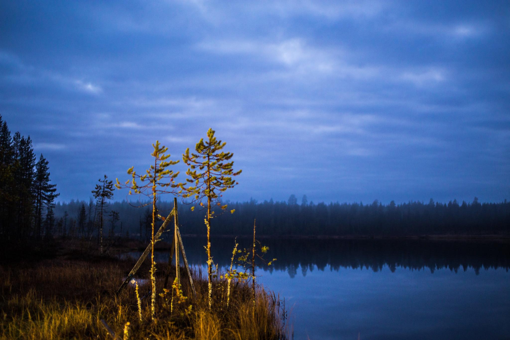 Kaamos in Rovaniemi Lapland Finland