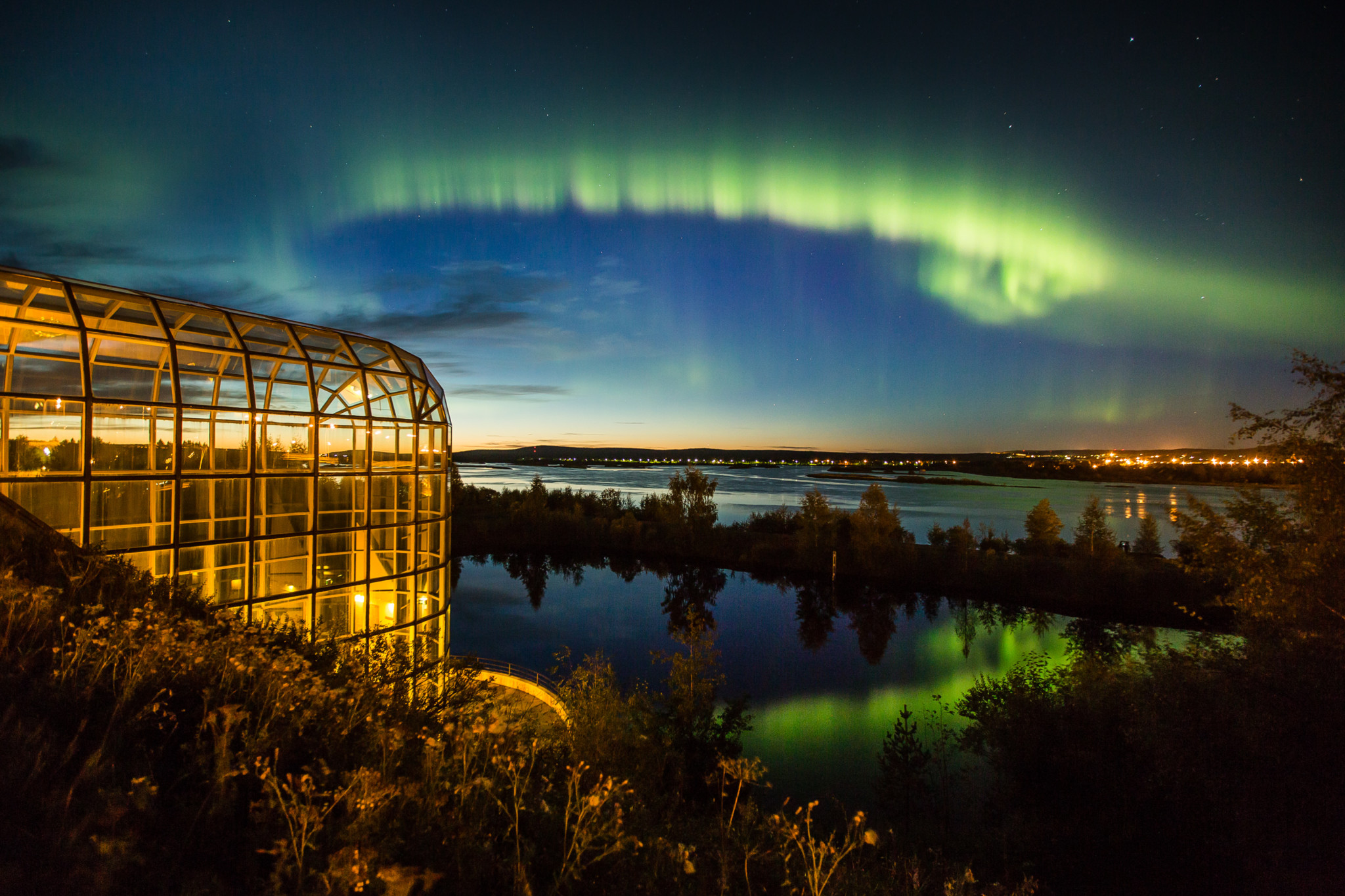 Northern Lights in Rovaniemi, Lapland.