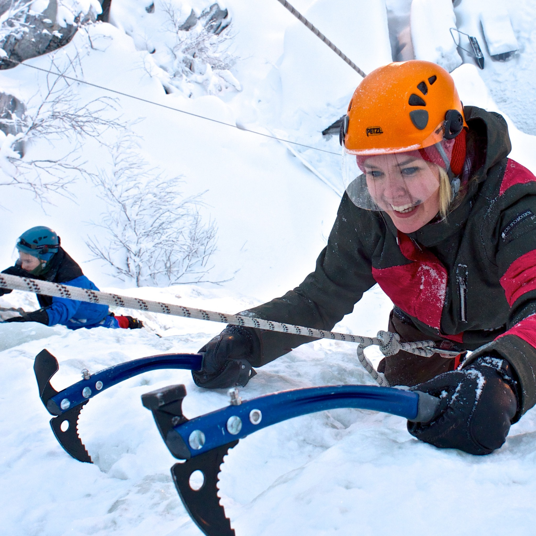 Ice climbing with Bliss Adventure