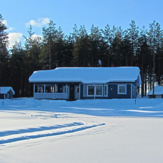 Villa Mustikkakumpu cottage winter in Rovaniemi, Lapland, Finland