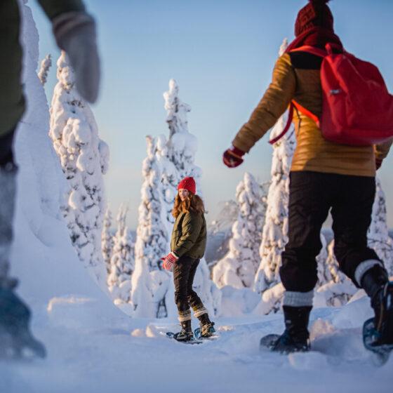 Snowshoeing in Rovaniemi, Lapland, Finland