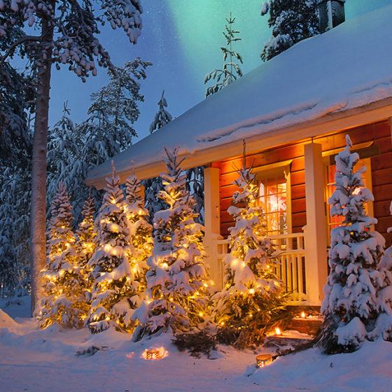 Christmas Chalets in Rovaniemi, Lapland, Finland