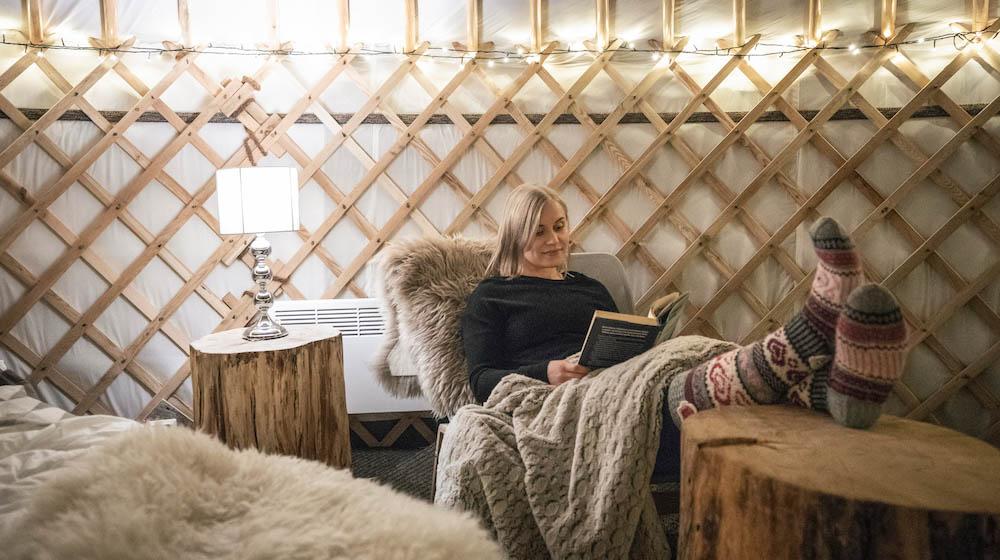Cozy accommodation Yurt District, Rovaniemi, Lapland, Finland