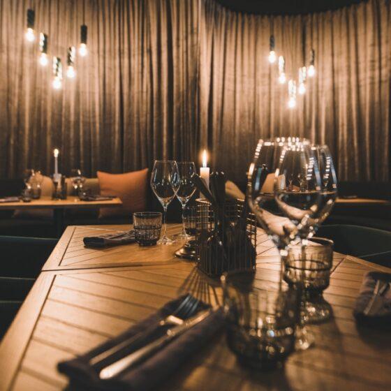 Cozy restaurant Gustav Kitchen Bar, Rovaniemi, Lapland, Finland