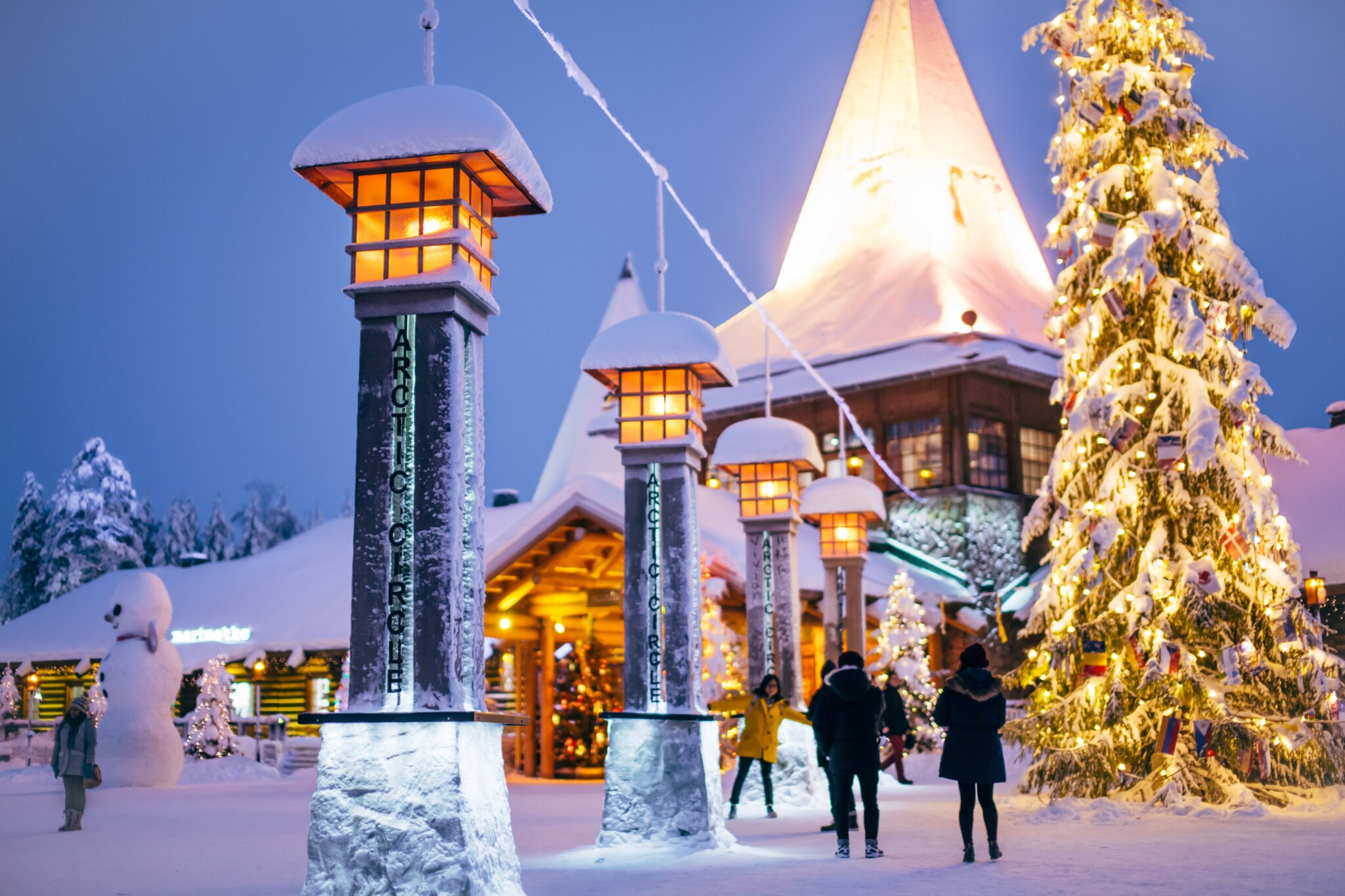 Crossing the Arctic Circle at Santa Claus Village in Rovaniemi Lapland Finland (1)