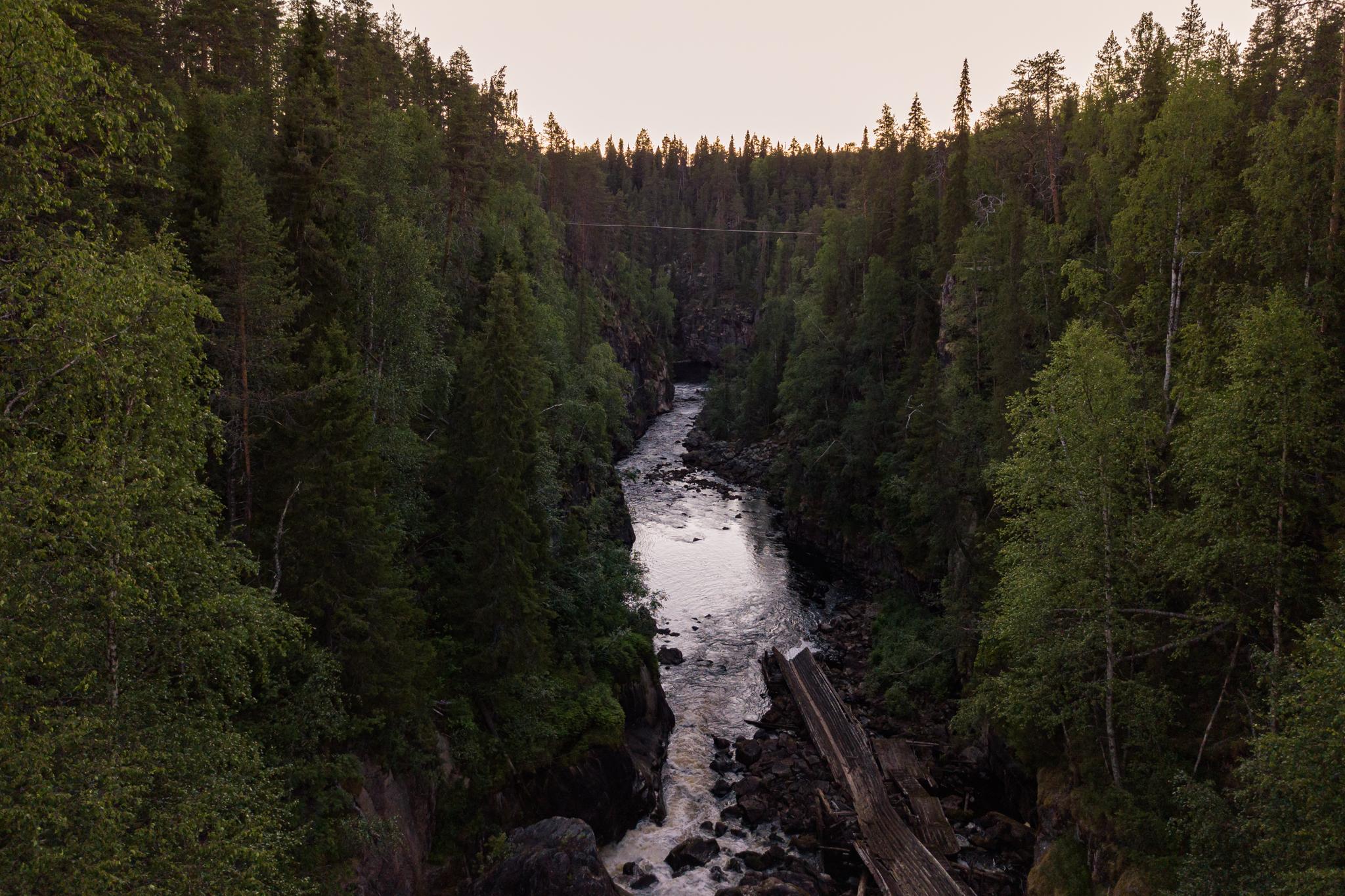 Auttiköngäs in Rovaniemi Lapland Finland