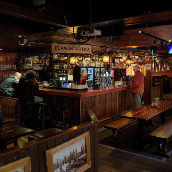 Uitto Pub evening bar in Rovaniemi, Lapland, Finland