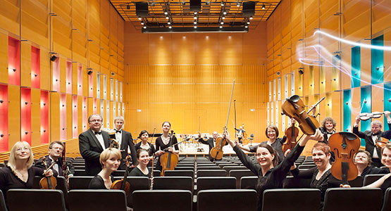 Lapland Chamber Orchestra in Korundi House of Culture in Rovaniemi, Lapland, Finland