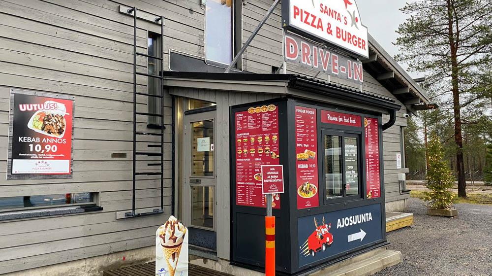 Drive-In, Santas Pizza and Burger, Rovaniemi, Lapland, Finland
