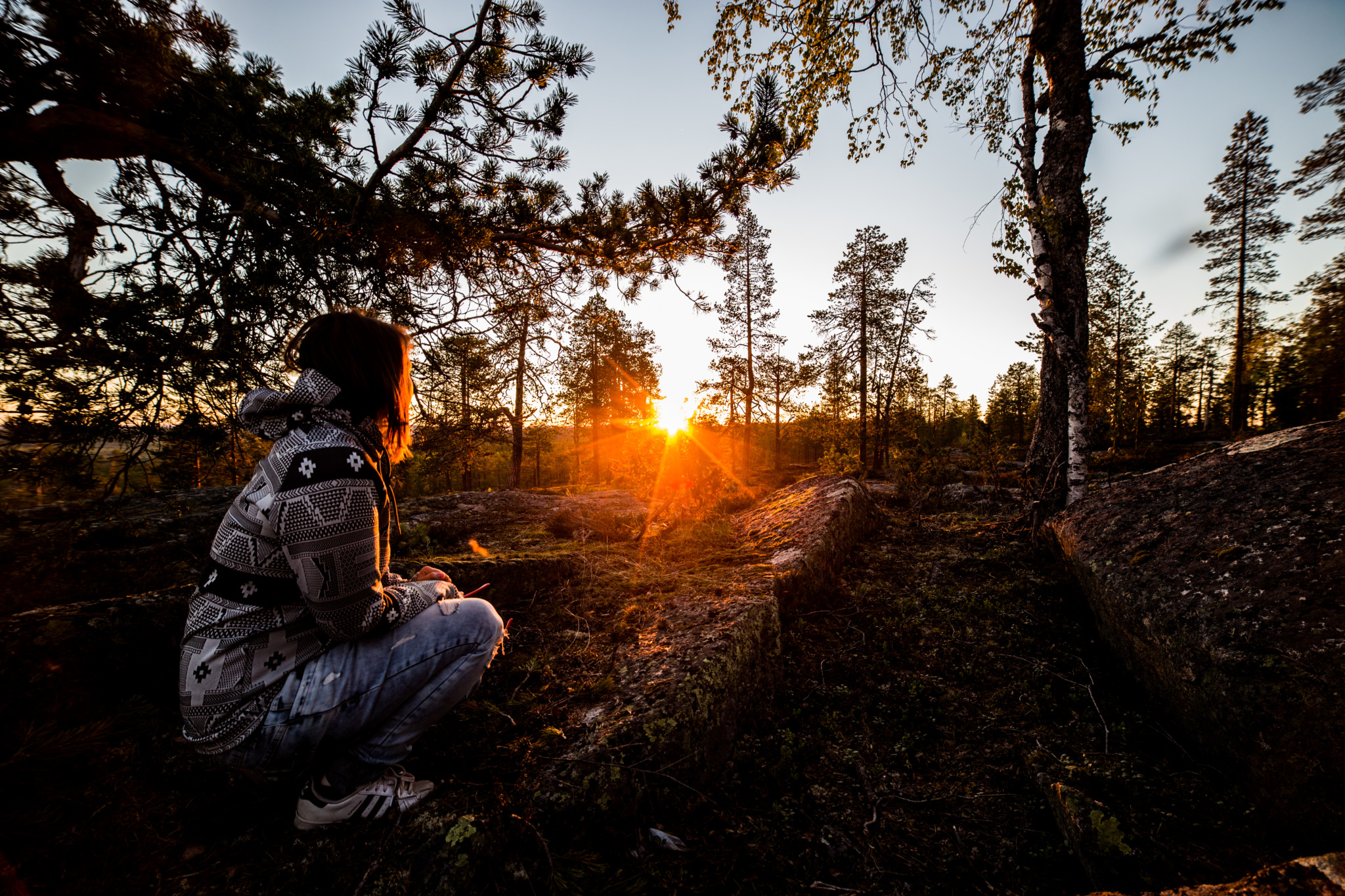 Hiking in Rovaniemi summer