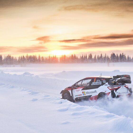 Ensimmaista kertaa jarjestettavar Arctic Rally Finland tuo Rovaniemelle Kalle Rovanperäa ja muut MM-rallitahdet. Tekijanoikeudet Hannu Rainamo