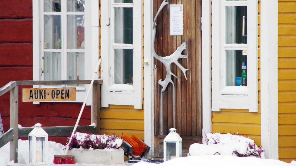 Entrance in Lauri Shop Rovaniemi, Lapland, Finland