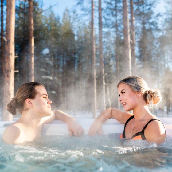 Ulkoporeamme, Glass Resort, Joulupukin Pajakylä, Rovaniemi, Suomi