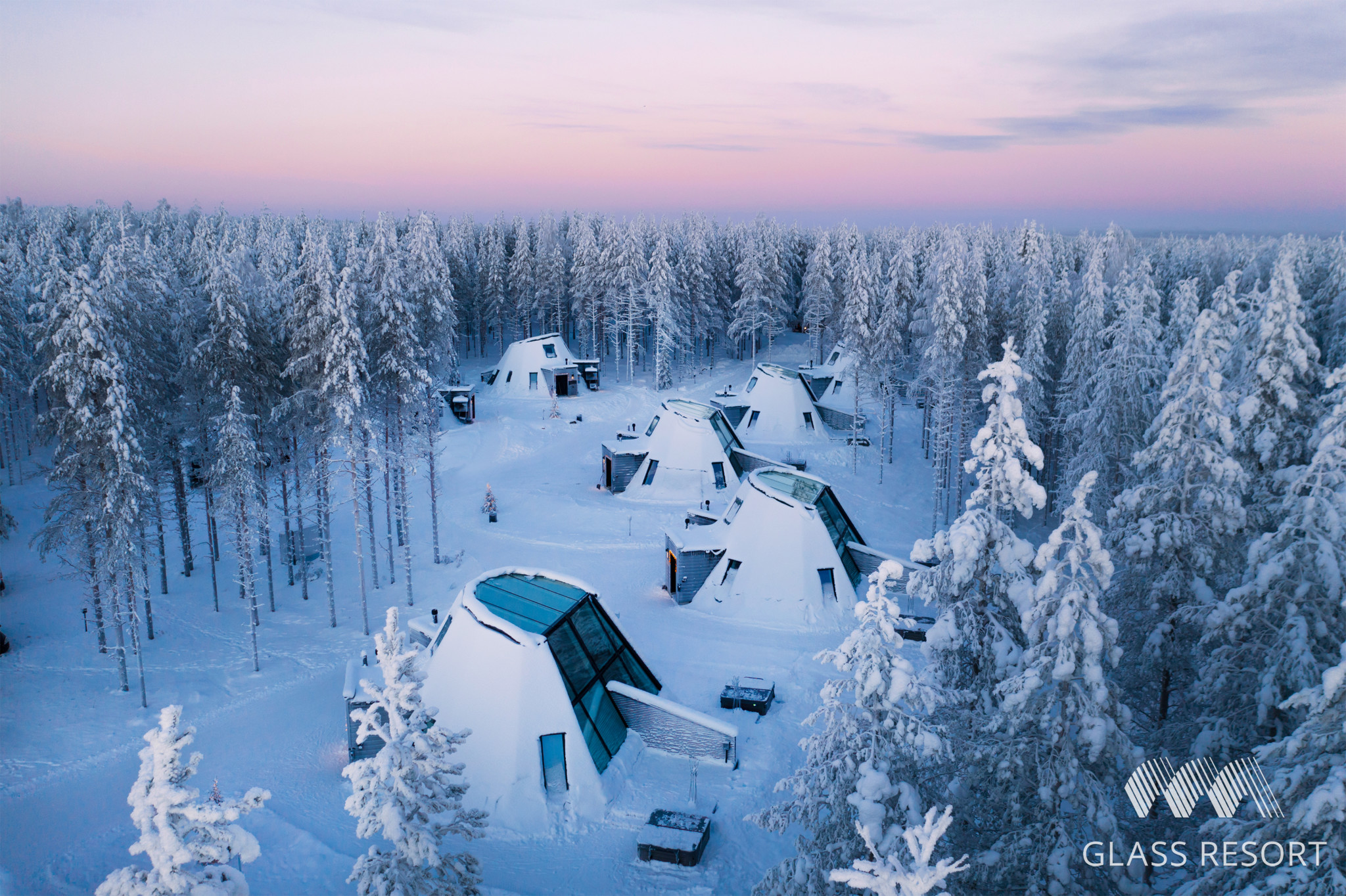 Glass Resort in Santa Claus Village, Rovaniemi, Lapland, Finland