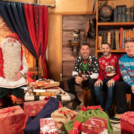 ordon, Gino and Fred at Santa Claus Office in Rovaniemi Lapland Finland
