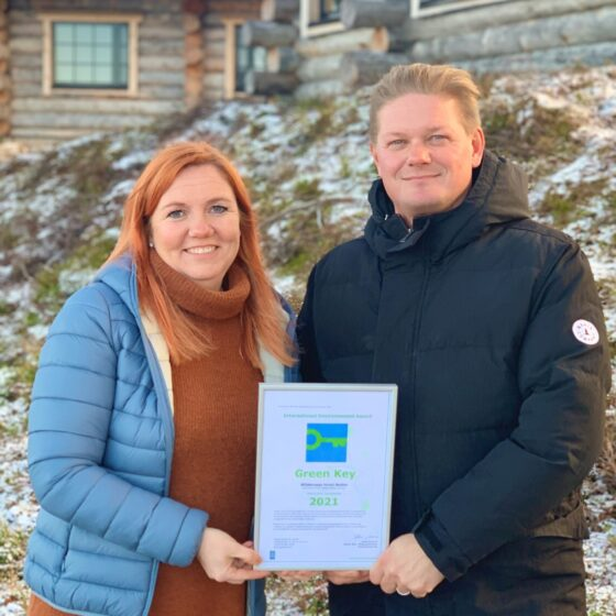 GreenKey Certificate to Nellim Wilderness Hotels and Safaris Mari and Jouko Lappalainen1