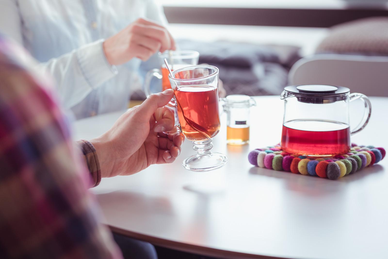 Tea in Hostel Cafe Koti in Rovaniemi Lapland Finland