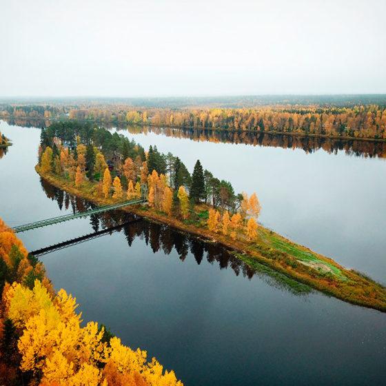 Hotel Vartiosaari autumn Rovaniemi, Lapland, Finland