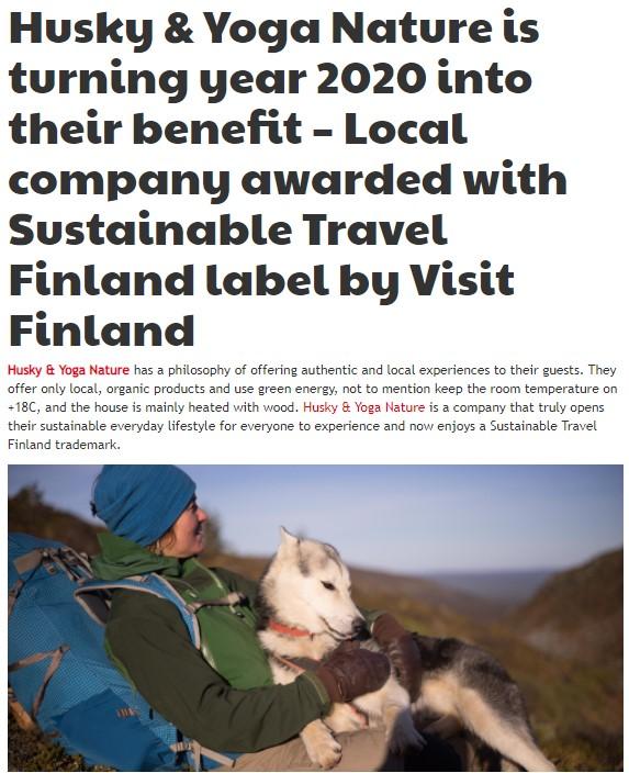 Husky Yoga Nature News Visit Rovaniemi
