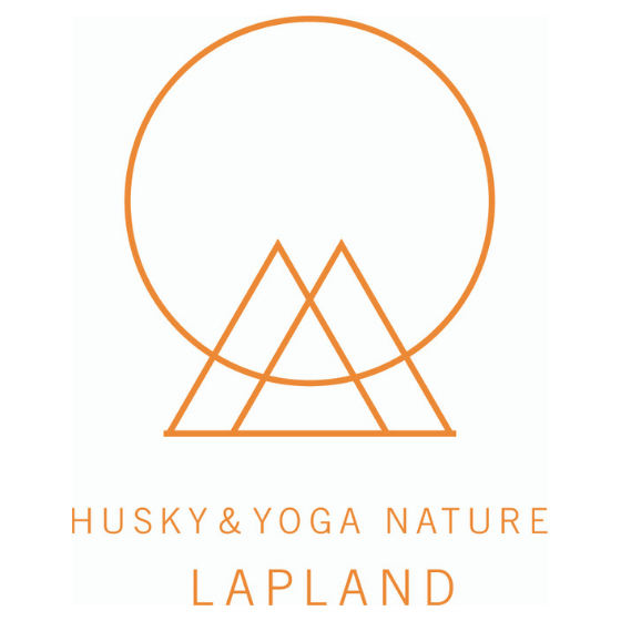 Husky Yoga and Nature logo in Rovaniemi Lapland Finland