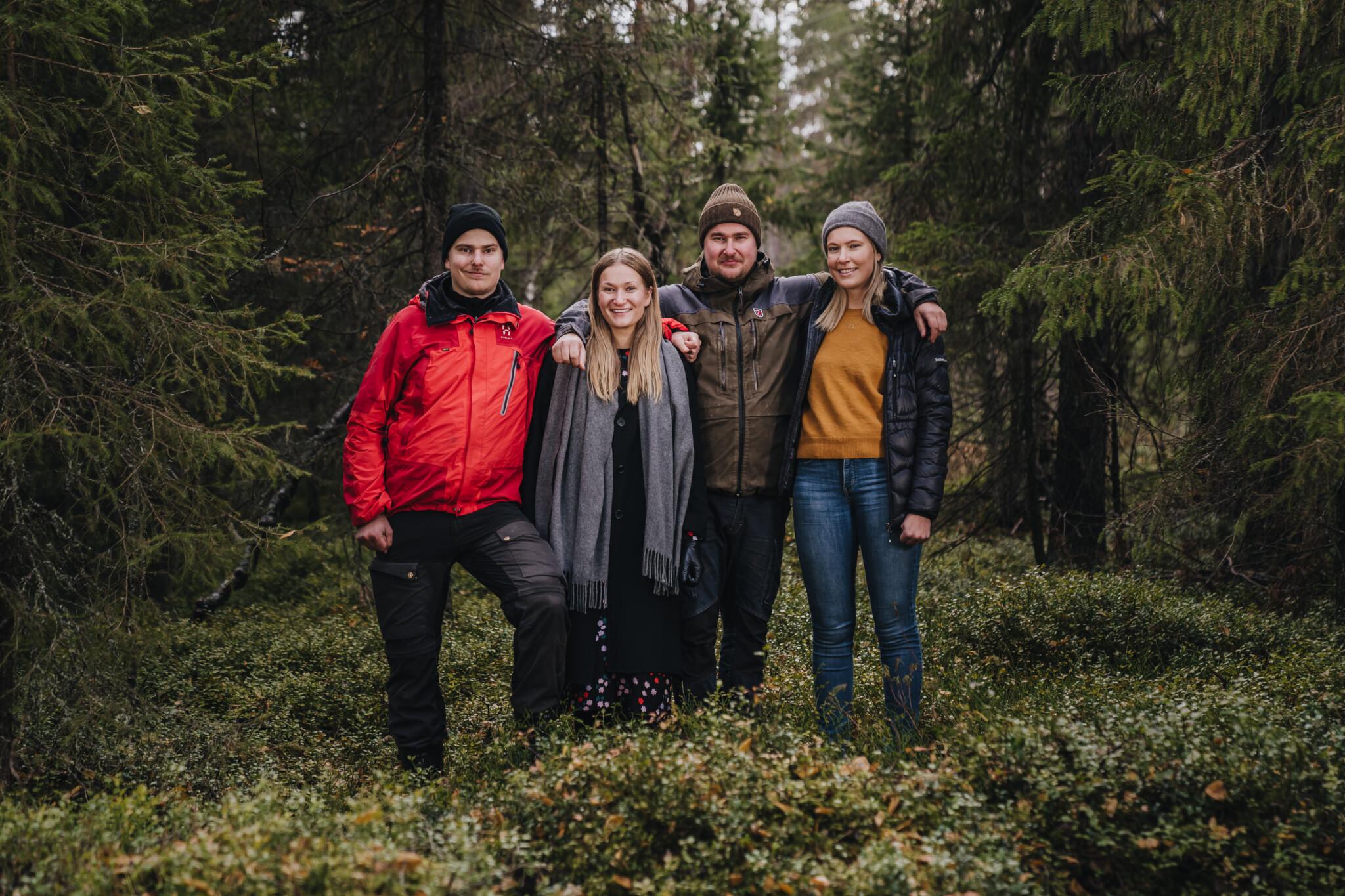 Ollero Eco Lodgen sisarukset Rovaniemen majoitukset
