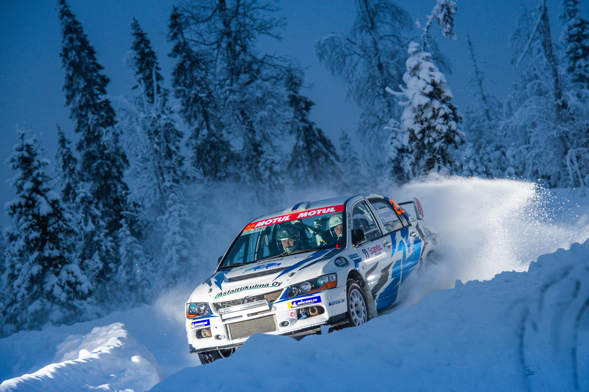 Jaro Kinnunen Taneli_Niinimaki Arctic Lapland Rally Rovaniemi Finland