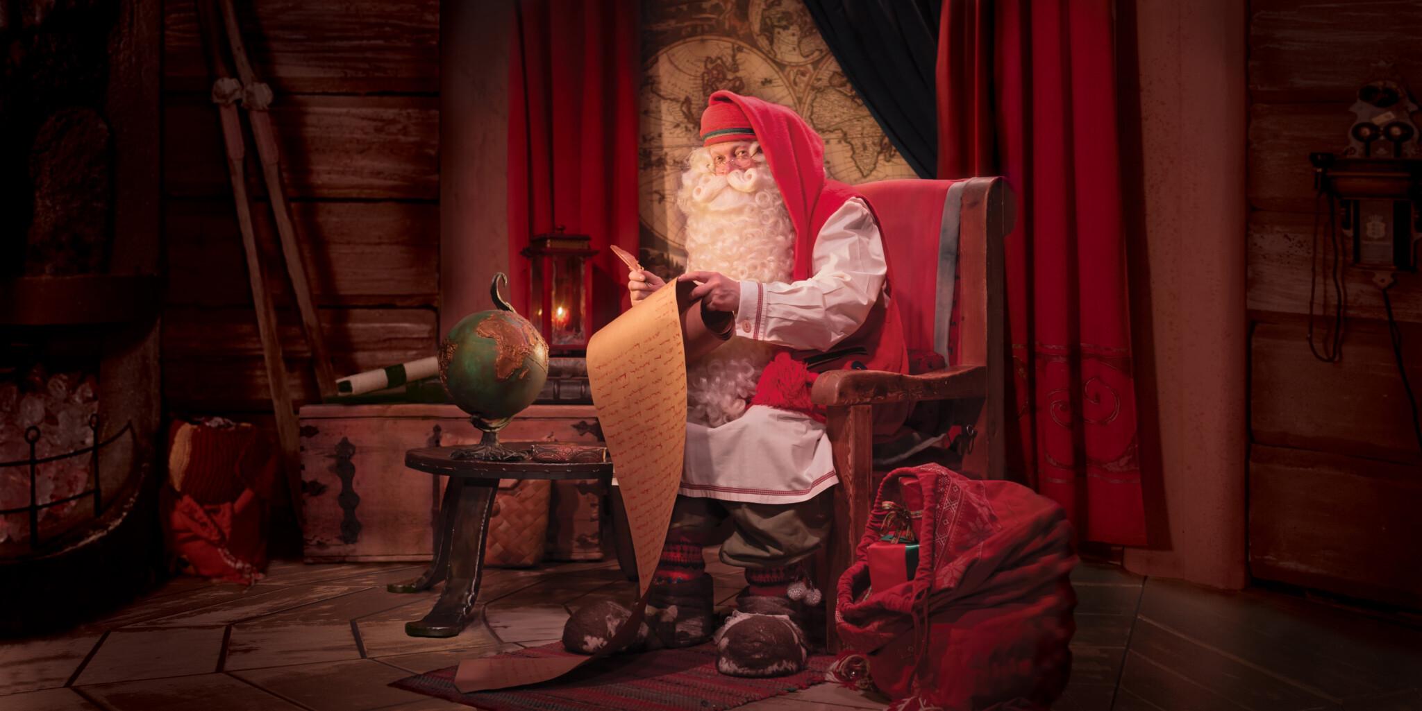 Joulupukin Kammari videopuhelu Joulupukille Jouluna 2020 Rovaniemi Lapland Finland