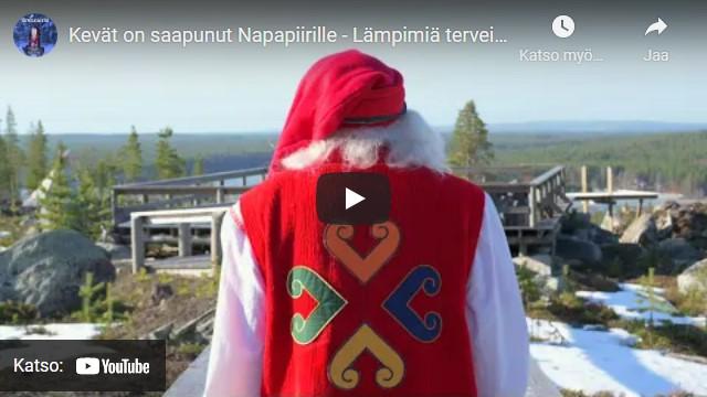 Joulupukin kevattervehdys video Youtube