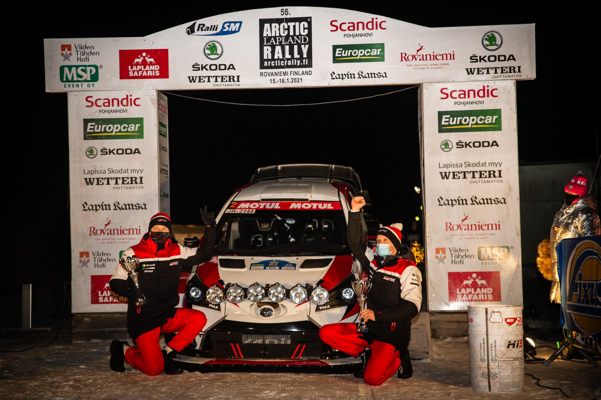 Juho Hänninen Taneli_Niinimaki Arctic Lapland Rally Rovaniemi Finland