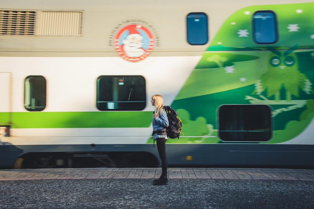 Traveling to Rovaniemi The Official Hometown of Santa Claus with train