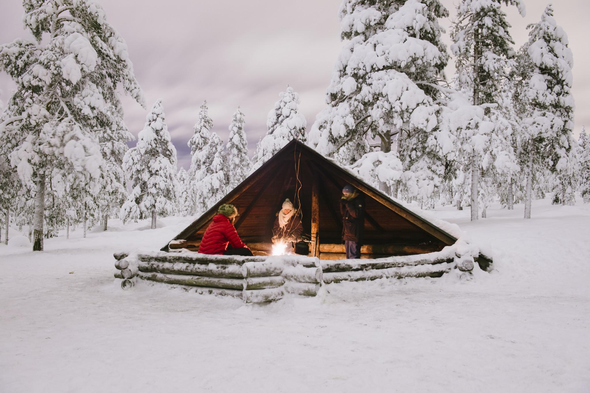 Laavu at Rovaniemi, Lapland, Finland
