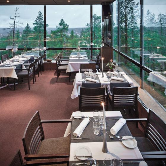 Sky Kitchen and view restaurant in Rovaniemi, Lapland, Finland