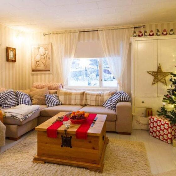 Living room in Villa Virpi, Rovaniemi, Lapland, Finland