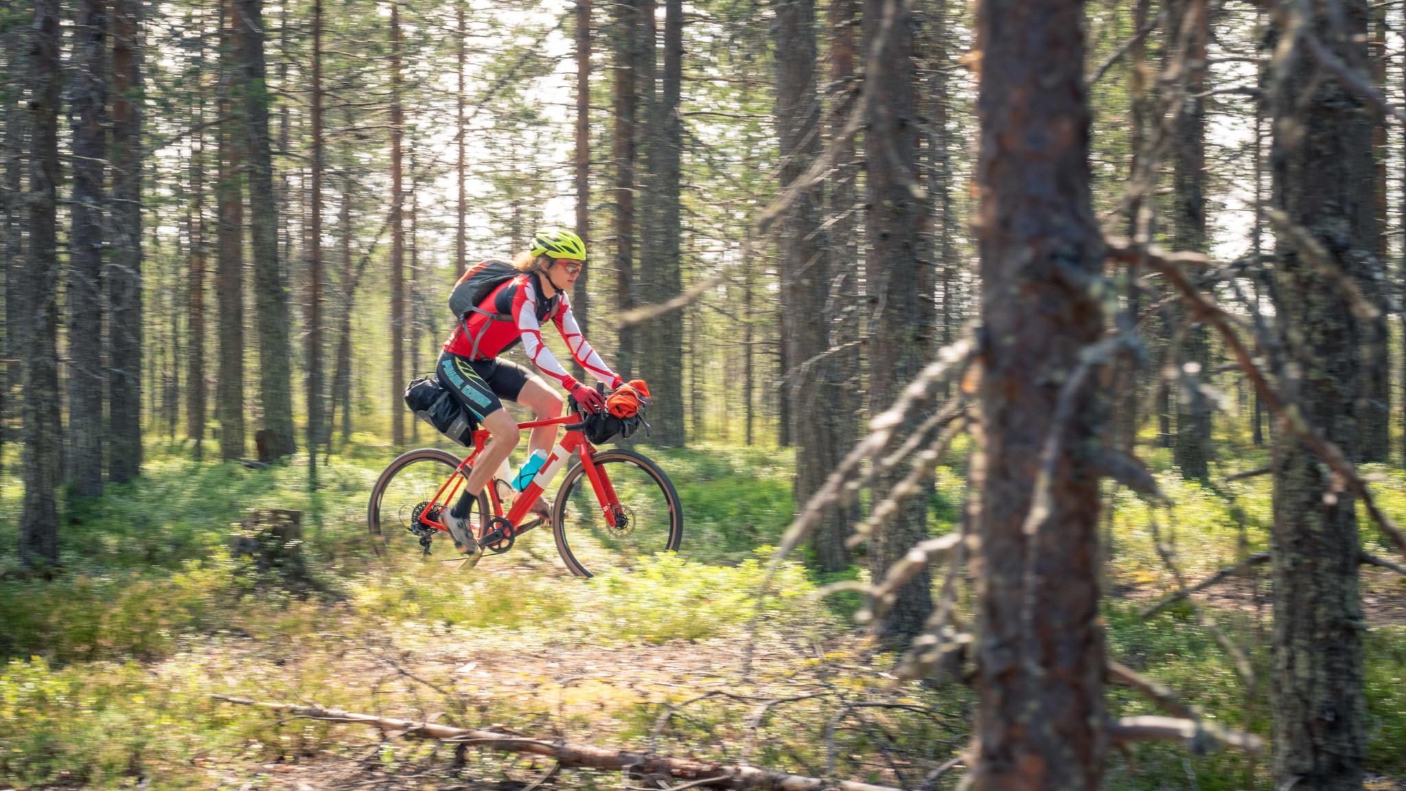 mountainbiking Rovaniemi Lapland Finland