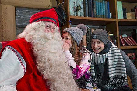 Meeting Santa Claus In Santa Claus Village, Rovaniemi, Lapland, Finland