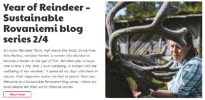 Sustainable Rovaniemi Miia Merkku Year of Reindeer Arctic Reindeer